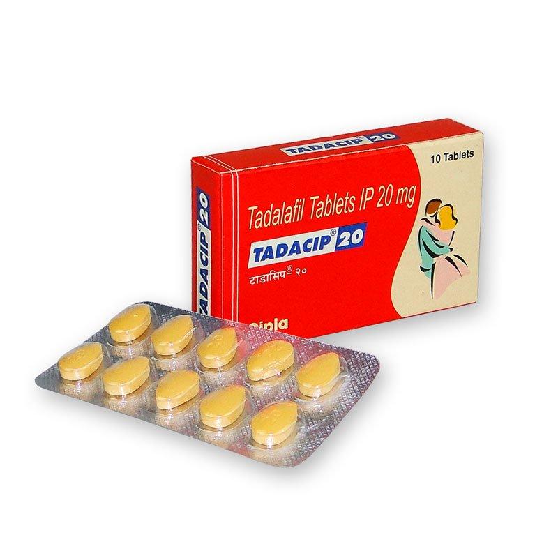 10 pastillas de Tadacip 20 mg